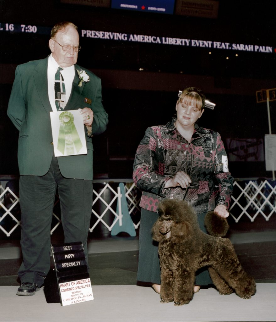 CH. Amity's Old Hickory Best Puppy in Specialty